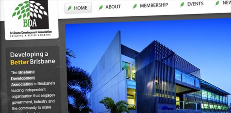 Screenshot of Brisbane Development Association website