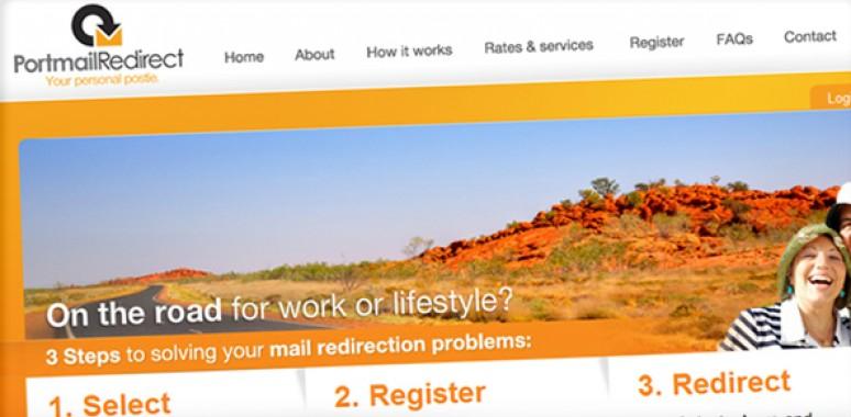 Screenshot of Portmail Redirect website