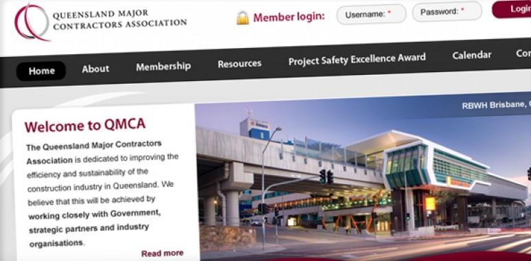 Screenshot of Queensland Major Contractors Association website